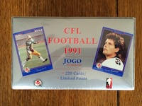 cfl football 1991 jogo factory sealed set Canadian   Northport, 11768
