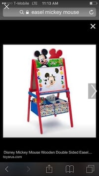 Disney mickey mouse wooden double sided easel screenshot