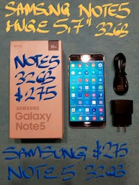 TRADE or Firm $275 SAMSUNG NOTE5 32GB BOX+charger Beaconsfield, H9W 5Z7