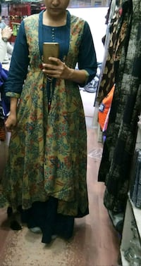 women's green and brown floral traditional dress Ludhiana, 141002