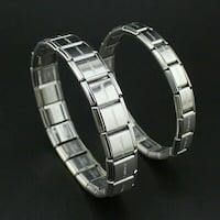 Men and women stainless steel couple bracelet set