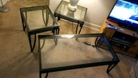 rectangular black metal framed glass top table Bladensburg, 20710
