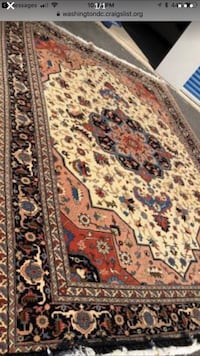 Hand made rug , excellent, beautiful, nice, nice colorful and gorgeous. Fairfax, 22033