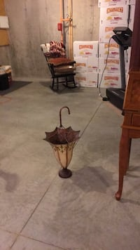 Umbrella stand can be used for flowers also it's a decorative piece. Would like $15.00 or best offer. Lunenburg, 01462