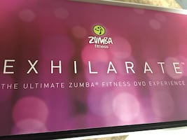 Zumba dvds and dumbbells kit