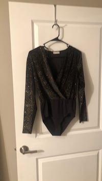 Black and gold Sparkle Body suit
