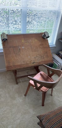 Hand-made drafting table and matching chair Weymouth, 02190