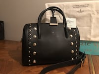 black leather Michael Kors tote bag null