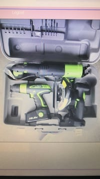Green and black power tool kit