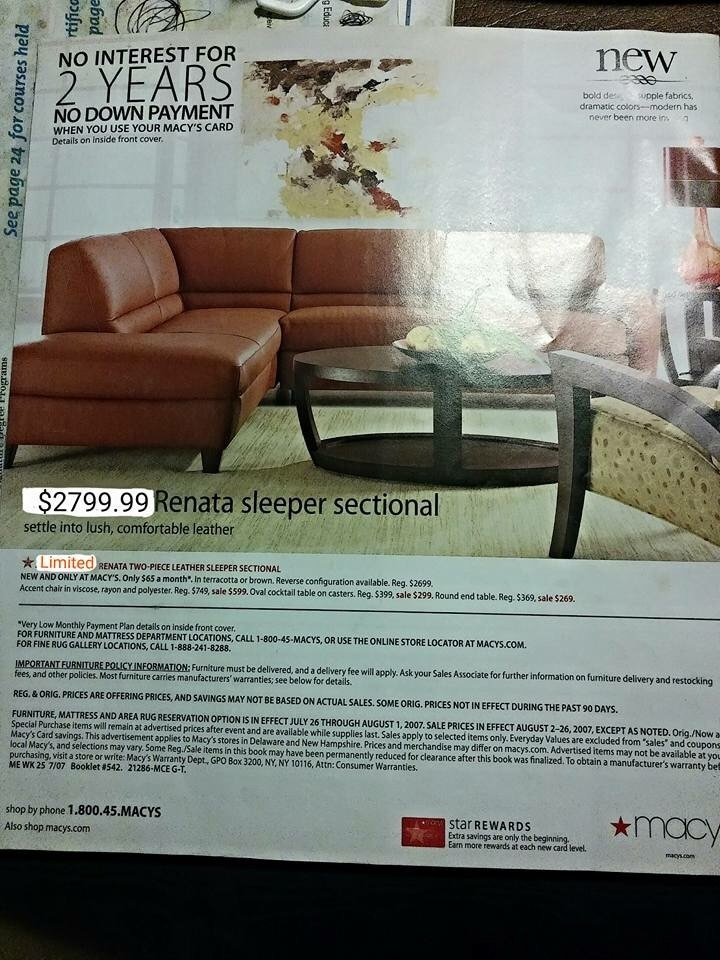 Macys furniture delivery