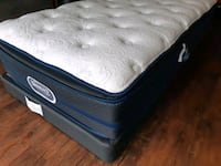 New Luxury single twin pillowtop +box.250. Deliver Edmonton, T5A 4H3