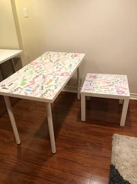 IKEA table and side table Toronto, M4G 2V6
