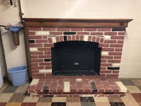 Fireplace surround and mantel. All pieces detach and is real brick. Price negotiable