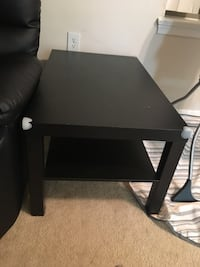 Black wooden 2-layer coffee table Falls Church, 22044