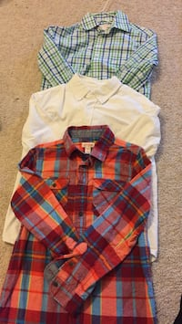 white and red plaid dress shirt 洛克維爾, 20852