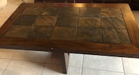 Real wood Dinning table with 4 leather chairs and matching coffee table Miami Lakes, 33014