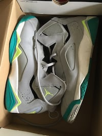 Size 6.5 Grey and teal air jordan lace up basketba Baltimore, 21224