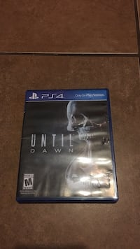 Until dawn ps4 game disc