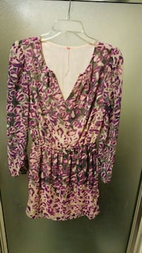 women's pink and white floral long sleeve dress Georgetown, 78626
