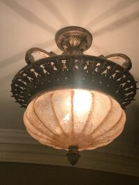 Light Fixtures - 1 ceiling mounted and 2 matching sconces TORONTO