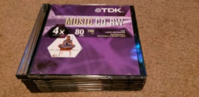 TDK Music CD - RW NEW Audio Recording Discs