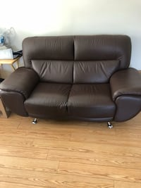Brown leather sofa  Toronto, M4J 2J8