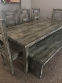 Hand made table and chairs  CANALWINCHESTER