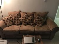 Brown suede 3-seat sofa Arlington, 22204