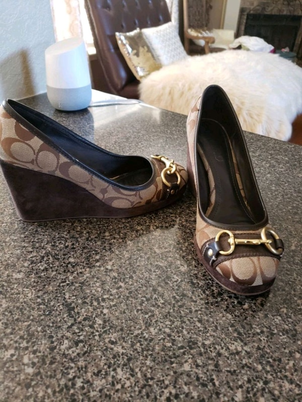 5f1ba577b6691f Used Coach wedges size 7 for sale in Olive Branch - letgo