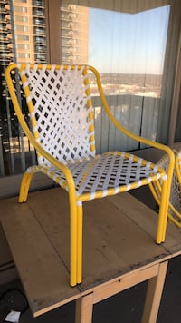 World Market Yellow All weather wicker chairs 4 Falls Church, 22041