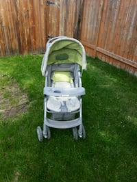 baby's gray and green stroller Calgary, T3M 1J9