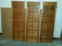 Solid wood shutters  Frederick