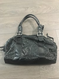 Black Woven Genuine Leather Purse Burnaby, V5H