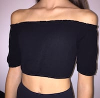 M off the shoulder crop top 555 km