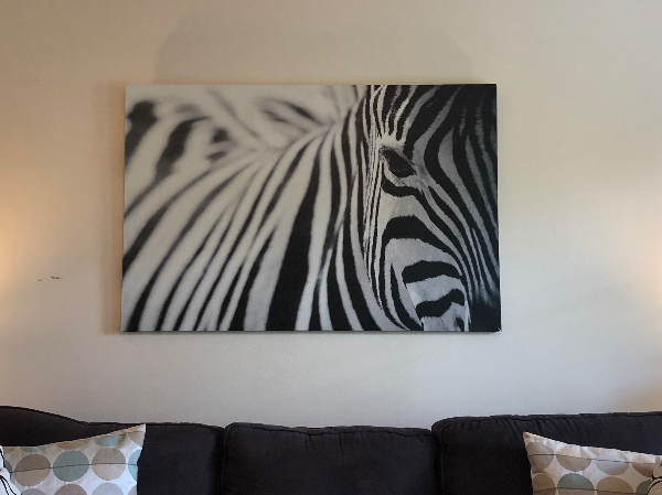 Ikea Pjatteryd Zebra Picture Wall Art Wrapped Canvas Ready To Hang 46 X 30