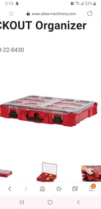 Brand new milwaukee packout organizer 10 compartment  Vaughan