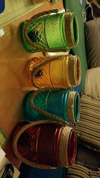 """Candle holders w/rope handles 7 1/2 """" tall Newport News, 23605"""