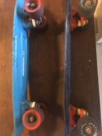 Blue and red penny board Surrey, V3S 1S3