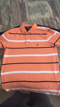 red and white striped polo shirt Baltimore, 21220