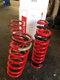 two pair of red coil springs