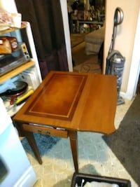 Antique folding leaf table with drawer