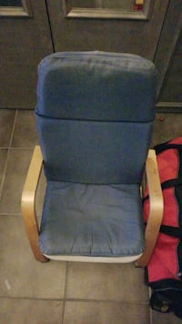 blue and brown wooden armchair Markham, L3T 3E1