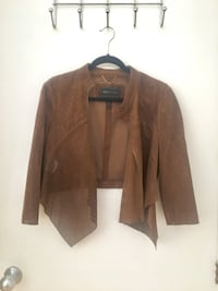 BCBG Max Azaria Brown Suede Style Perforated Jacket Montréal, H2V 2B4
