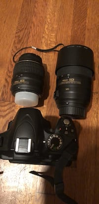 Nikon D3200 with 18-55mm, 55-300 lens