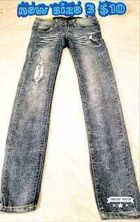 distressed blue-washed jeans Las Vegas, 89169