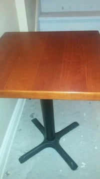 rectangular brown wooden table with black metal base Toronto, M8V 3A8