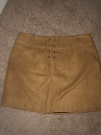 Faux suede brown skirt Rockville, 20850