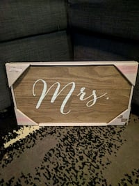 "Hanging wooden ""Mr."" and ""Mrs."" signs Coquitlam, V3K 1P7"