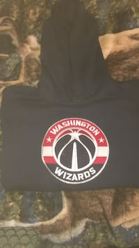 black Washington Wizards printed pullover hoodie