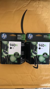 Two Hp 940XL black ink cartridges for 60 Los Angeles, 91304